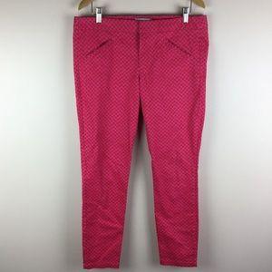 Gap Womens 10 Pink Patterned Printed Ultra Skinny